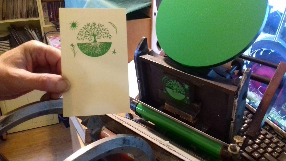 Letterpress and woodblock printing